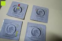Vorderseite: GEHEIM - einhorn Kondom JAHRESVORRAT - NEUTRAL Versand - 7 Packungen Kondome a 7 Stück (49) vegan, design, hormon frei, echte Gefühle, feucht, 100% geprüft