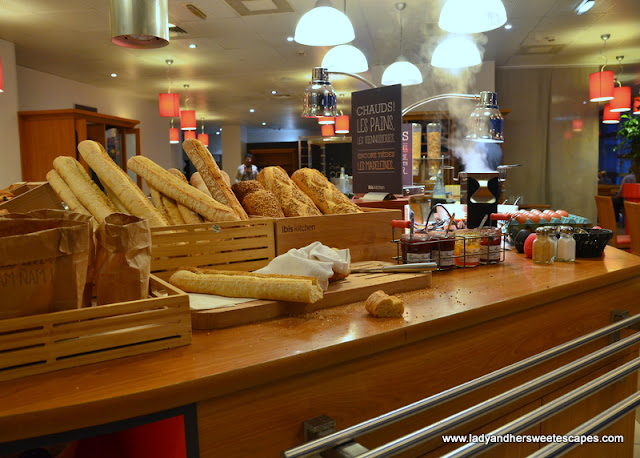 market style breakfast at Ibis Paris Hotel
