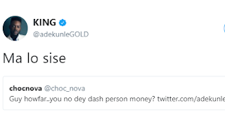 Adekunle Gold replies Fan who asked him if he doesn't dash out money