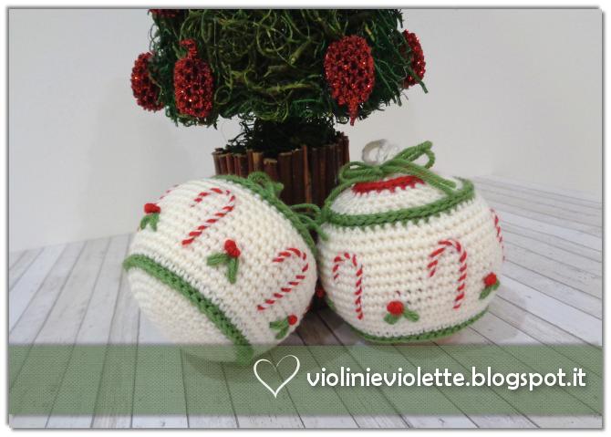 Violini e Violette: Palline di Natale amigurumi | 479x670