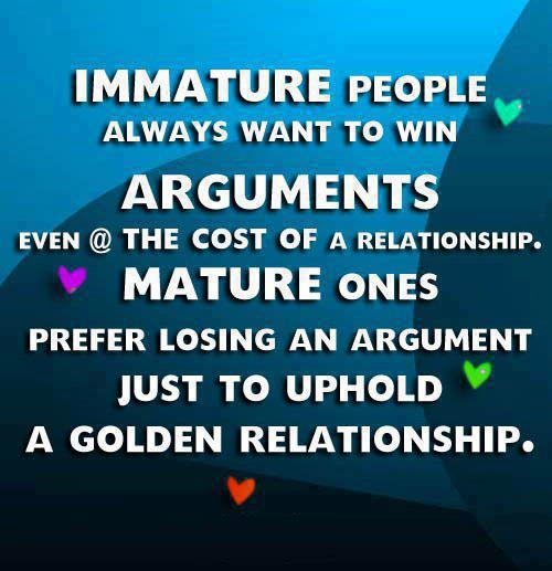 Positive Thinkers.: Immature People Always Want To Win