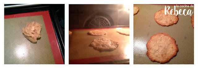 Receta de tejas de almendra: el horneado