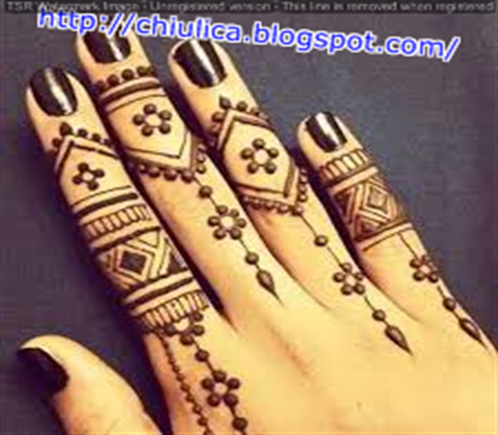 Henna Untuk Kulit Gelap Simple Dan Mudah Terbaru 2017 Contoh