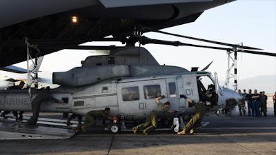Un helicóptero de la Fuerza Aérea estadounidense.
