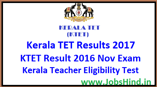 Kerala TET Results 2017