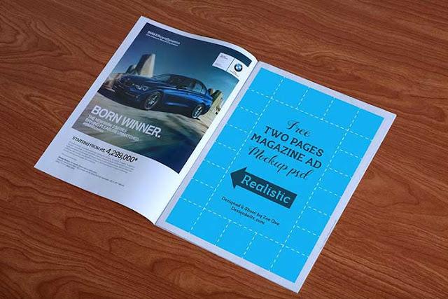 Free Magazine Ad Mockup PSD