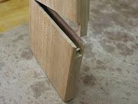 開閉部分の竹ひご