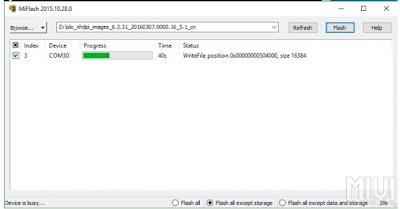 Tutorial flash yang akan admin bahas kali ini hanya bisa digunakan di hp xiaomi seri  Tutorial Flash Xiaomi Redmi 3S / 3X / 3S Prime via MiFlash