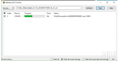 Cara Flash Redmi 3S / 3X / 3S Prime via MiFlash