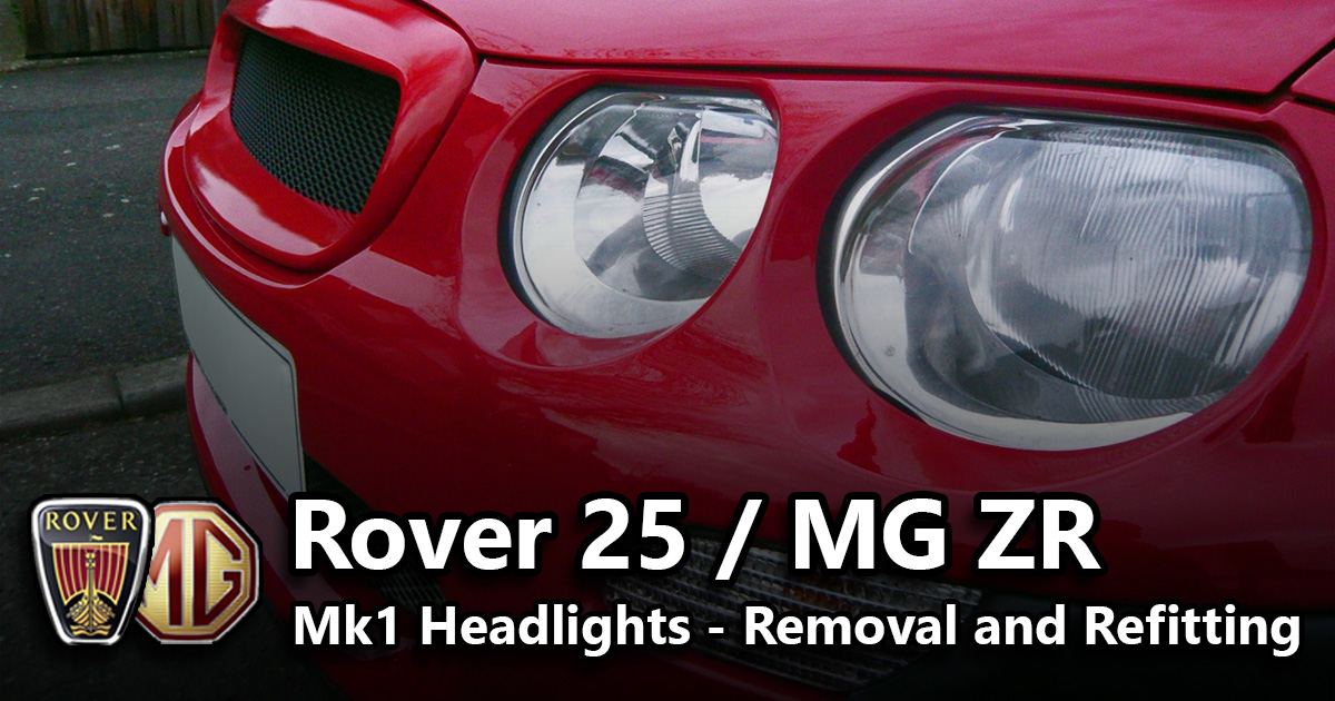 Headlights - Removal and Refitting | MG Rover Service Guides
