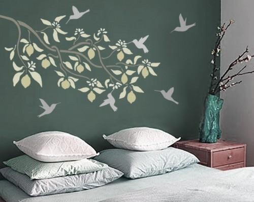 Design Stencils For Walls: Cottage Blue Designs: Inspiration Wall #2