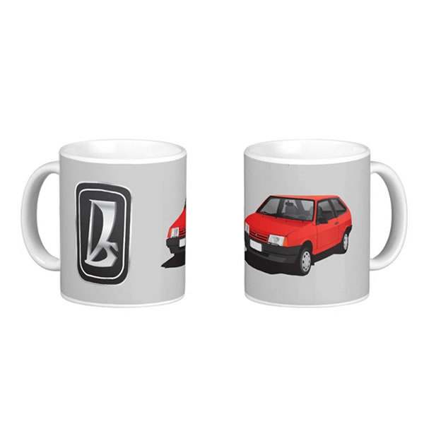VAZ-2109 Lada Samara automobile illustration mugs