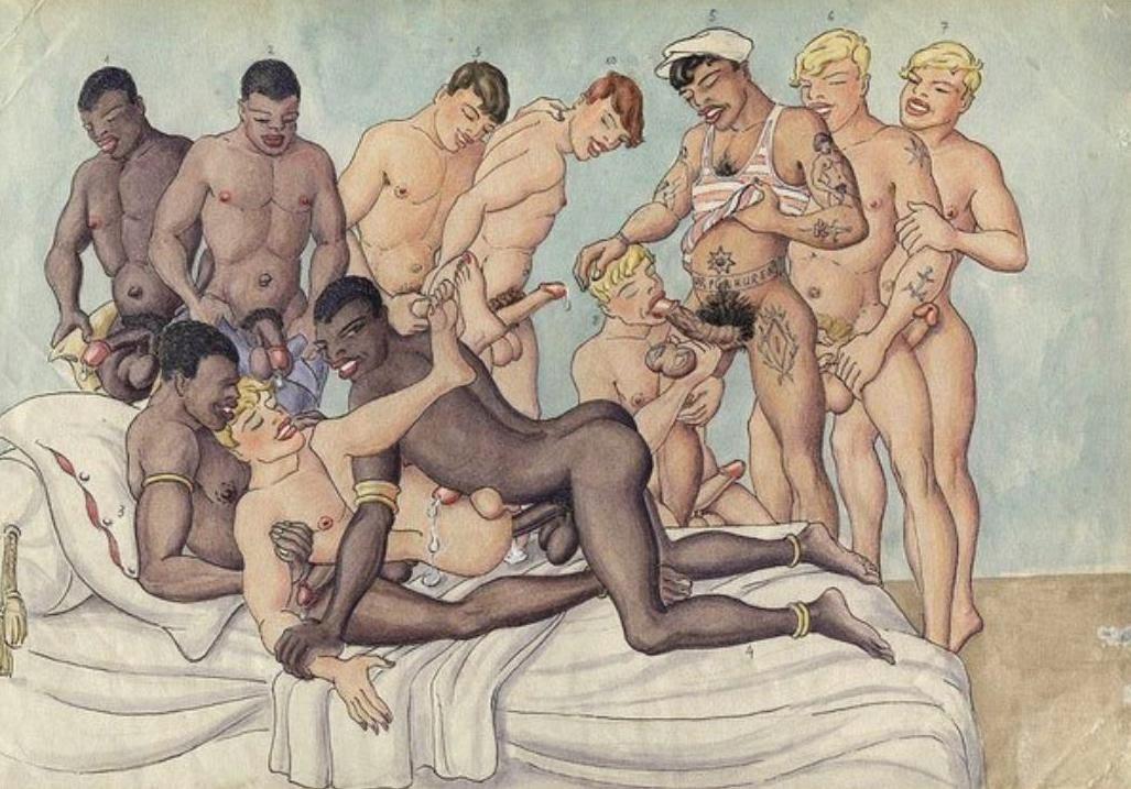 древние рисунки порно школу