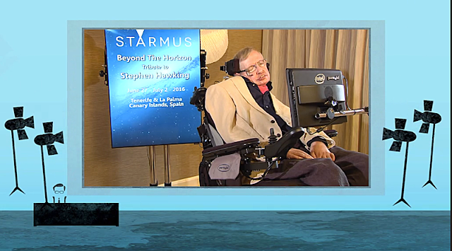 Stephen Hawking discusses AI and concerns about the world's pollution.