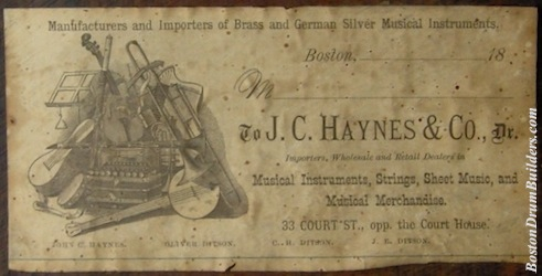 ca. 1880s Haynes Drum Label