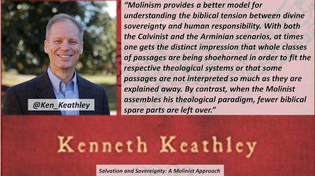 "Quote from ""Salvation and Sovereignty: A Molinist Approach"" by Dr. Kenneth Keathley- ""Molinism provides a better model for understanding the biblical tension between divine sovereignty and human responsibility. With both the Calvinist and the Arminian scenarios, at times one gets the distinct impression that whole classes of passages are being shoehorned in order to fit the respective theological systems or that some passages are not interpreted so much as they are explained away. By contrast, when the Molinist assembles his theological paradigm, fewer biblical spare parts are left over."" #Molinism #Calvinism #Arminianism #Sovereignty #God #Bible #Theolgoy"