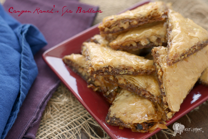 Canyon Ranch's Spa Baklava + Eat Right For Your Sight book tour