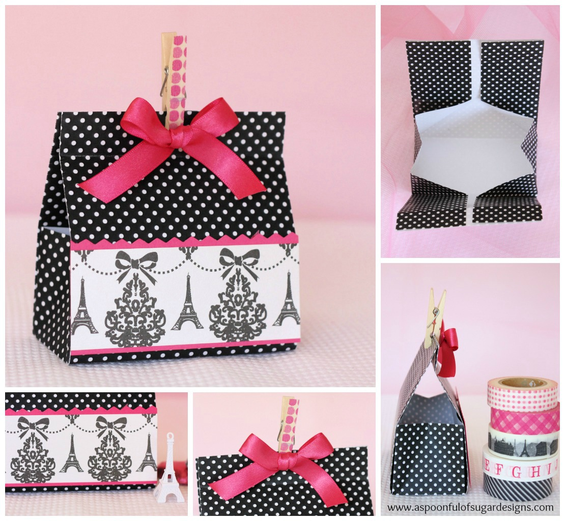 Fold A Gift Box From Sheet Of Cardstock