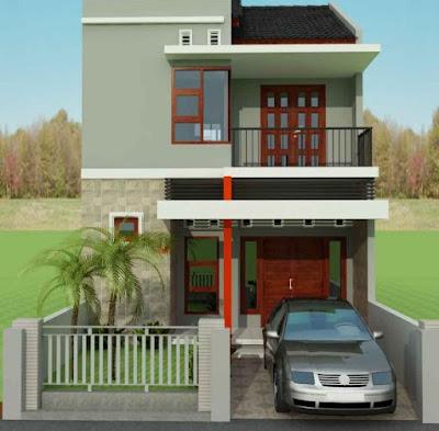 tampak muka rumah minimalis 2 lantai lebar 6 meter