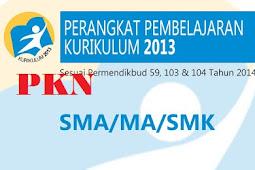 Rpp Pkn Sma/Smk Kelas X, Xi, Xii Kurikulum 2013 Revisi 2017