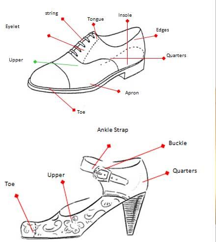 Pointe Shoe Diagram
