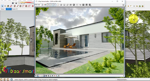 Render vray exterior,settingan vray option exterior ringan,tutorial settingan vray option exterior