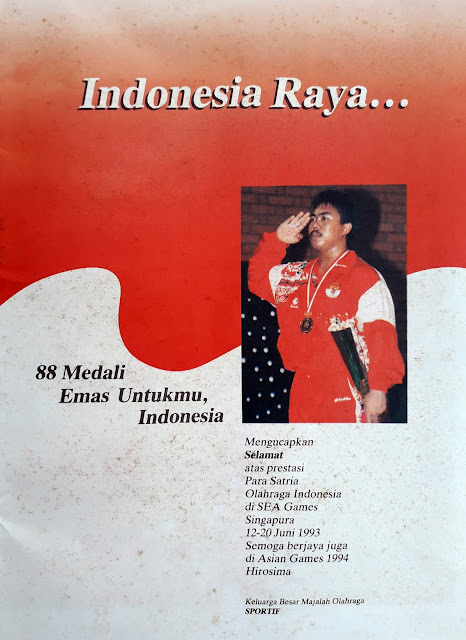 INDONESIA RAYA... 88 MEDALI EMAS UNTUKMU, INDONESIA