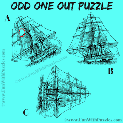 Answer of Odd One Out Classic Battleships Picture Riddle