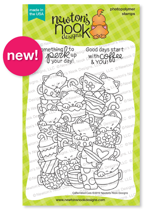Caffeinated Cats Stamp Set by Newton's Nook Designs #newtonsnook