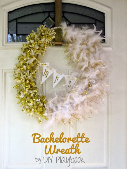 How To Make A Glam Bachelorette Party Wreath The Diy Playbook