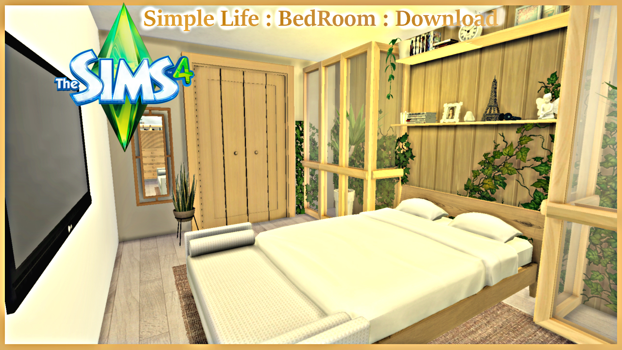 Simple life bedroom the sims 4 download the sims 4 for Bedroom designs sims 4