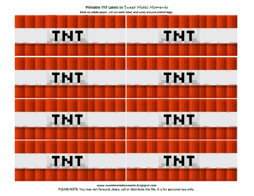 Invaluable image pertaining to tnt minecraft printable