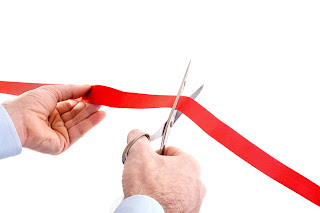 Ribbon Cutting cermony