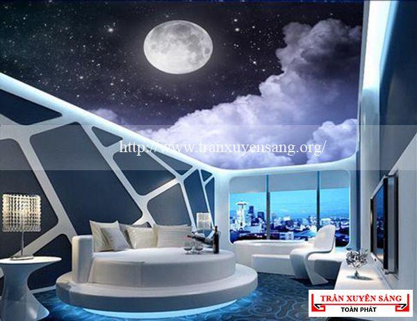 Mẫu trần nhà in dải ngân hà 8