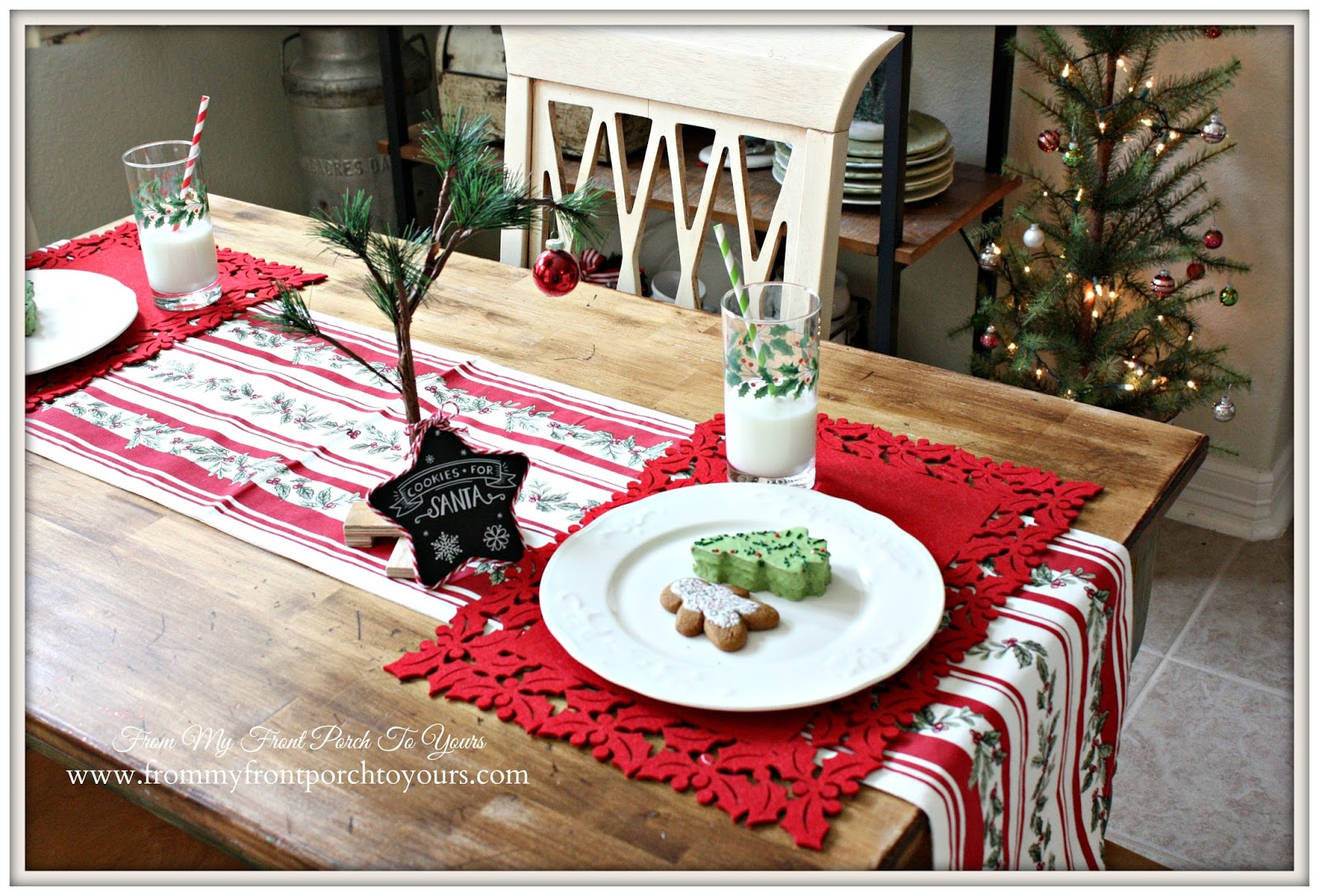Charlie Brown Tree-French Farmhouse Christmas Kitchen- From My Front Porch To Yours