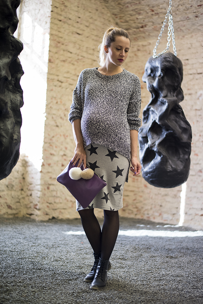 Skinny Buddha Grey outfit purple Anileda Alrac bag