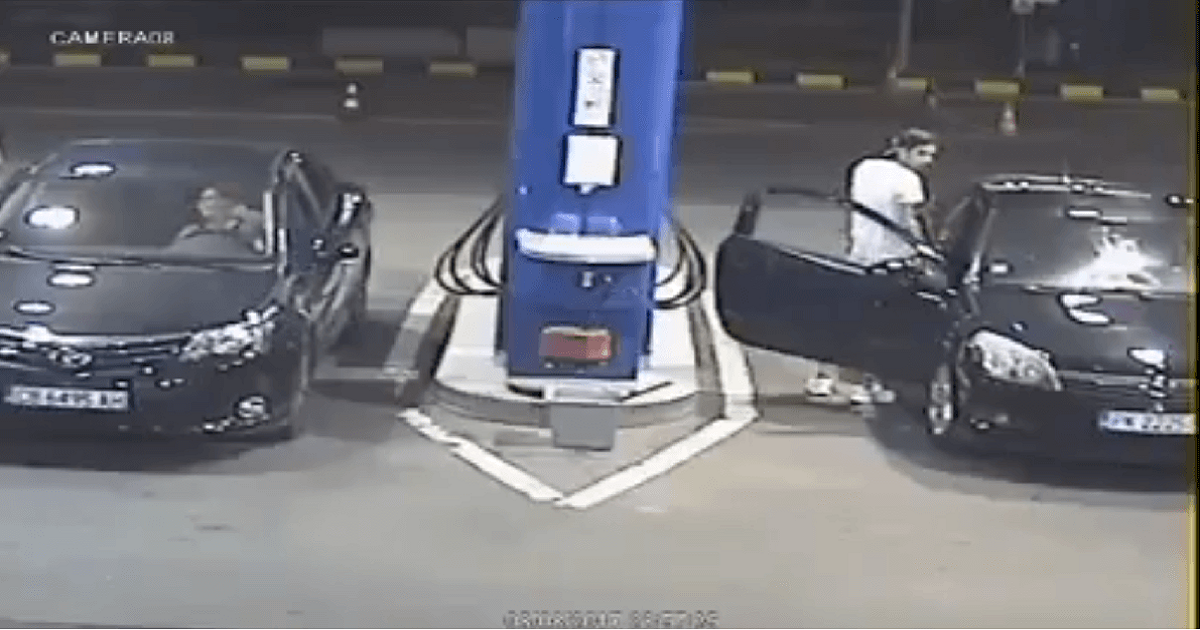 Guy Refused To Put His Cigarette Out At Gas Station, So An Employee Did It For Him