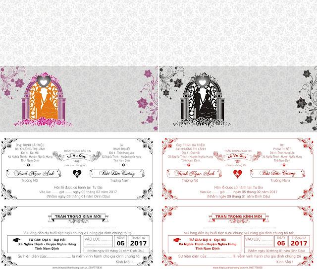 Stock thiệp cưới in lụa_ép kim