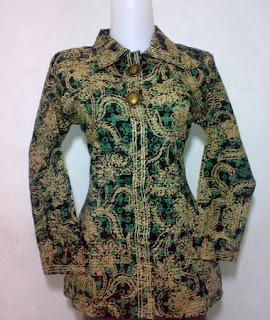 contoh gambar baju atasan batik wanita