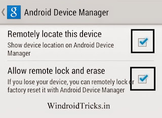 Setup android device manager