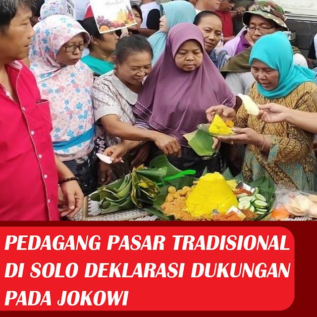 Pedagang Pasar Tradisional di Solo Deklarasi Dukungan Pada Jokowi