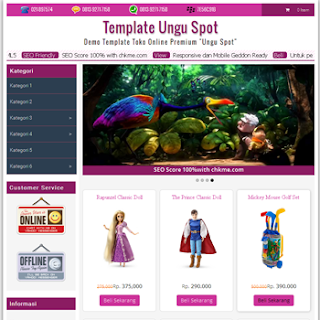 template toko online ungu spot