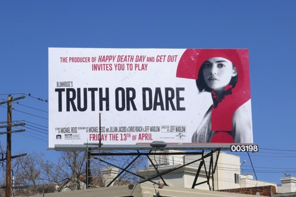 Lucy Hale Truth or Dare movie billboard