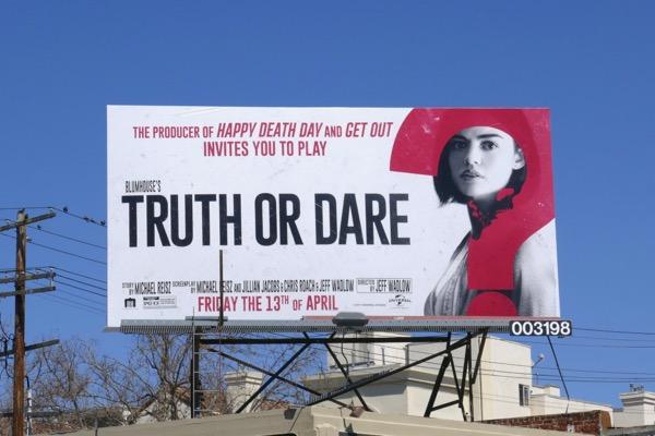 Lucy Hale Truth or Dare movie billboard