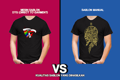 Print Kaos DTG vs Sablon Manual
