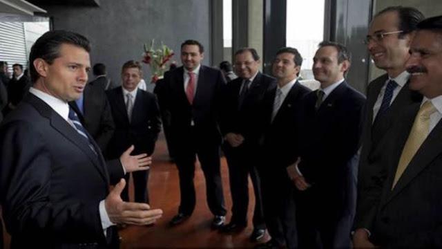 Si hablan de la corrupción de mi gobierno, le hace el favor a AMLO, sentenció EPN a empresarios.