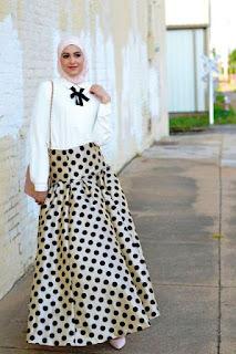 Model Baju Muslim Motif Pulkadot 2015