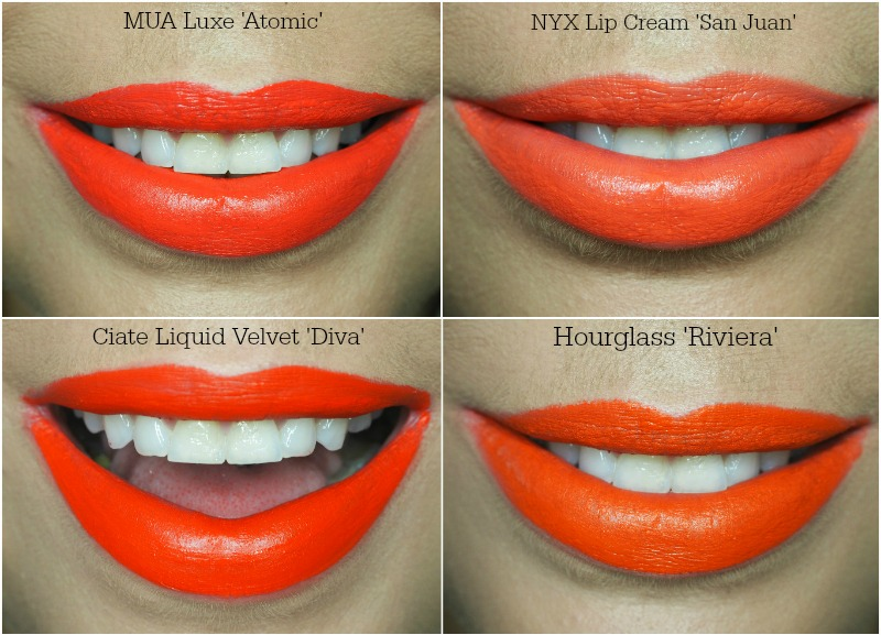 the best orange liquid lipstick swatches
