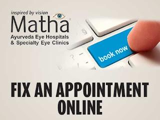 Fix appointment - Matha Ayurveda Eye Hospital Kudappanakunnu