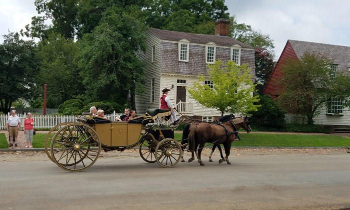 horse drawn carriage Colonial Williamsburg